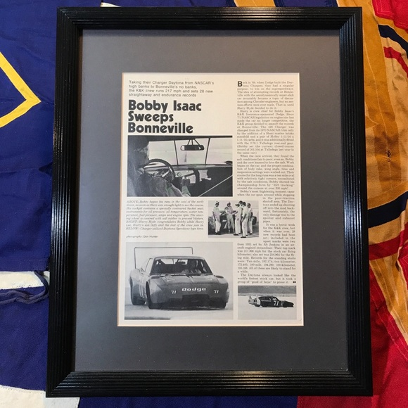 Vintage Other - VTG Original 1971 Dodge Daytona Bobby Isaac Ad